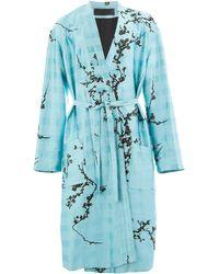 Haider Ackermann Floral Print Coat - Blue