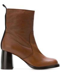 JOSEPH Side Zip Boots - Brown