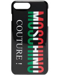 Moschino - Black Italian Logo Iphone 8 Plus Css Case - Lyst