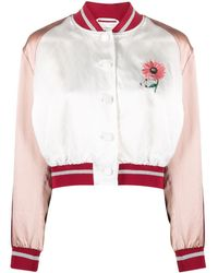 Ports 1961 Embroidered Bomber Jacket - White