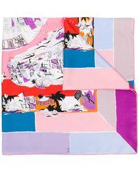 Emilio Pucci Graphic Printed Scarf - Pink