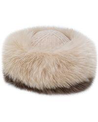 Agnona - Fox Fur Hat - Lyst