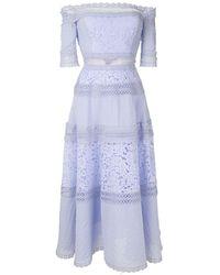 Martha Medeiros Verônica Midi Dress - Blue