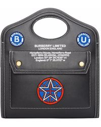 Burberry マルチバッジ ハンドバッグ - ブラック