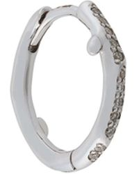 Shaun Leane Cherry Branch Diamond Hoop Earring - Metallic