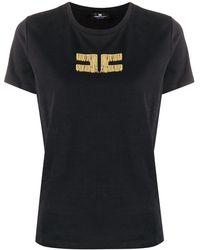 Elisabetta Franchi ロゴ Tシャツ - ブラック