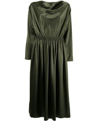 Adam Lippes Cowl Neck Charmeuse Dress - Green