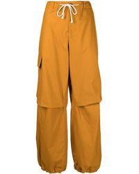 Jil Sander ドローストリング マルチポケットパンツ - ブラウン