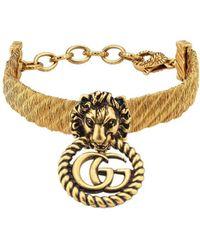 Gucci Armband mit Löwenkopf - Mettallic