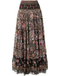 Camilla Shirred-waist Tiered Skirt