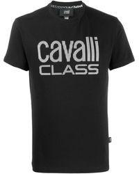 Class Roberto Cavalli ロゴ Tシャツ - ブラック