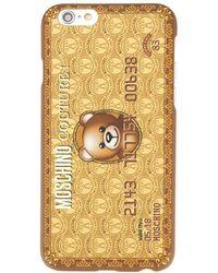 Moschino Carcasa de iPhone 6 con diseño de tarjeta de oso - Marrón