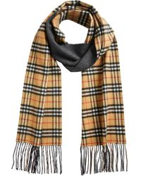 Burberry - Vintage Check Reversible Scarf - Lyst