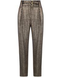 Pinko - Taillenhose im Metallic-Look - Lyst