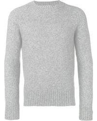AMI Crew Neck Raglan Sleeves Sweater - グレー