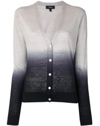 Theory V-neck Ombré Cardigan - Grey
