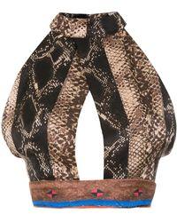 Amir Slama Silk Cropped Top - Черный