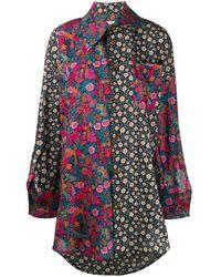 Vivienne Westwood コントラスト パネル シャツ - ブルー