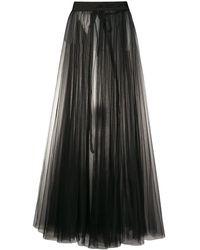 Loulou チュール プリーツスカート - ブラック
