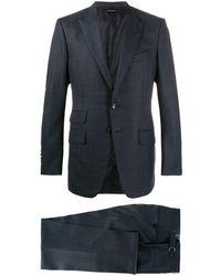 Tom Ford チェック スーツ - マルチカラー