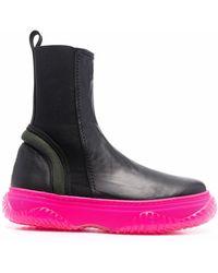 N°21 チャンキーソール ブーツ - ブラック