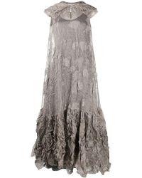 Nina Ricci Creased Floral Maxi Dress - Multicolor