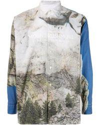 Doublet Mount Rushmore シャツ - ブルー