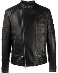 Les Hommes レザージャケット - ブラック