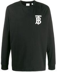 Burberry モノグラム Tシャツ - ブラック