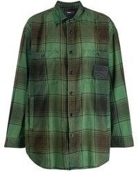 DIESEL カジュアル チェックシャツ - グリーン