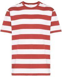 Sunspel Riviera ストライプ Tシャツ - レッド