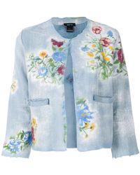 Avant Toi - Floral Print Cropped Jacket - Lyst