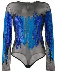 Amen Sequin embellished body - Blu