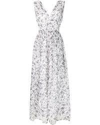 P.A.R.O.S.H. Платье С Принтом - Белый