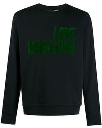 63295f870e3 Lyst - Gucci Terry-flocked Sweatshirt in Black for Men