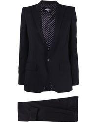 DSquared² Pantalon de costume crop - Noir