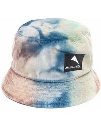 Mauna Kea Tie Dye-print Logo-patch Bucket Hat - Blue