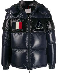 Moncler Gary Short Quilted Puffer Jacket - Blauw
