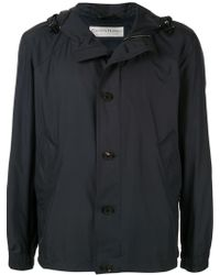Gieves & Hawkes Chaqueta impermeable con capucha - Negro