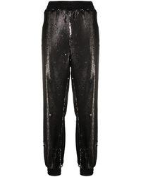Styland Sequin-embellished Track Pants - Black