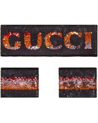 Gucci Stirnband und Schweißbänder mit Pailletten - Schwarz