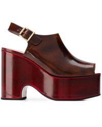 Marni Platform Wedge Sandals - Brown