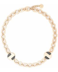 Ports 1961 Circular Charm Necklace - Metallic