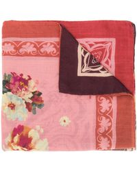 Etro Floral Print Scarf - Purple