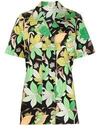Fendi Рубашка С Короткими Рукавами И Цветочным Принтом - Черный