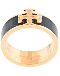 Tory Burch Kira Logo Ring - Black
