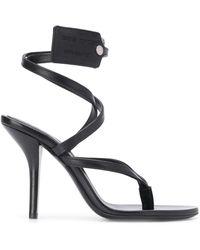 Off-White c/o Virgil Abloh Zip-tie Tag Strappy Sandals - Black