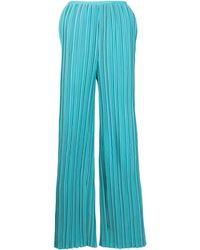 Bambah Plissé Straight-leg Trousers - Blue