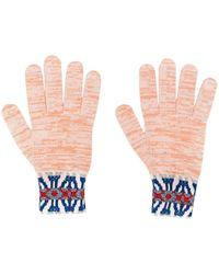 Missoni パターンニット手袋 - ピンク