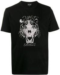 Just Cavalli タイガープリント Tシャツ - ブラック